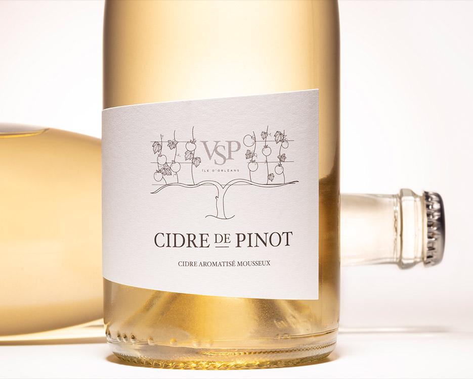 cidre-de-pinot wine packaging – Design d'étiquette de vin c